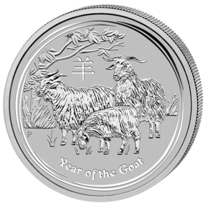 Lunar 2 Jahr der Ziege 2015 Silber