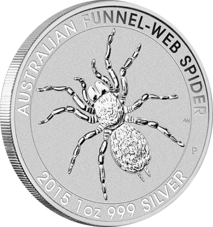 Australian Funnel Web Spider Perth Mint — Trichternetzspinne Silbermünze