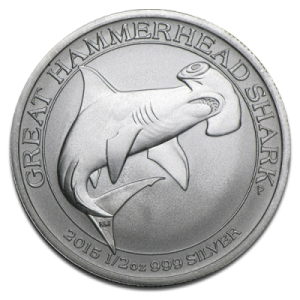 Great Hammerhead Shark 1/2oz Silbermünze — Hammerhai 2015