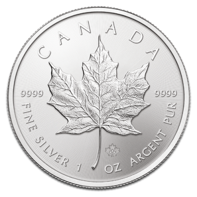 Silber Maple-Leaf Auflage