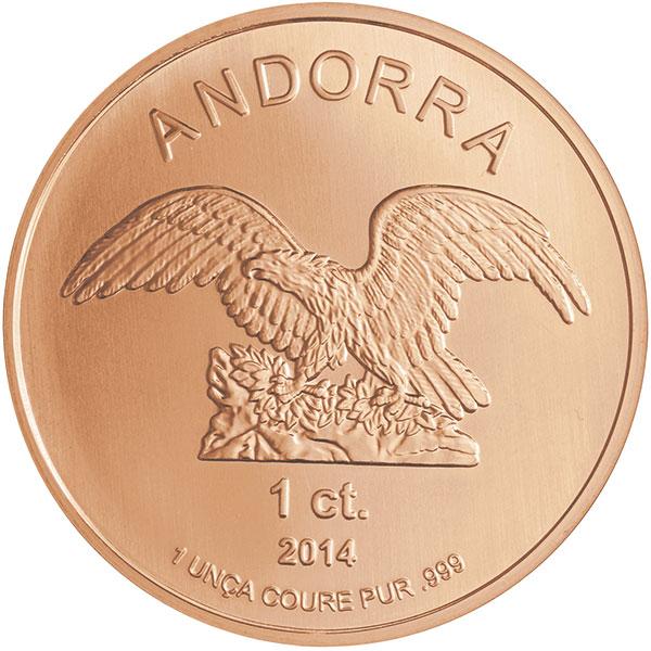 Andorra produziert als erster Staat Europas 1oz Kupfermünzen