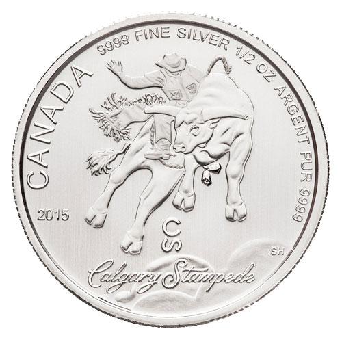 2015 $2 Calgary Stampede 1/2oz Silbermünze Royal Canadian Mint