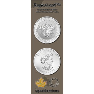Silver Canadian Maple SuperLeaf™ 1.5oz Infographic