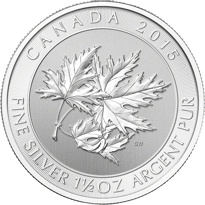 Silver Canadian SuperLeaf™ — Super Maple Leaf 1.5oz Kanada