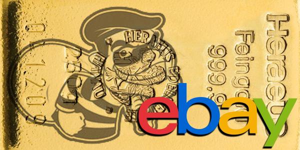 Goldbarren und Goldmünzen in Ebay schwarz verkaufen — Handeln Sie illegal?