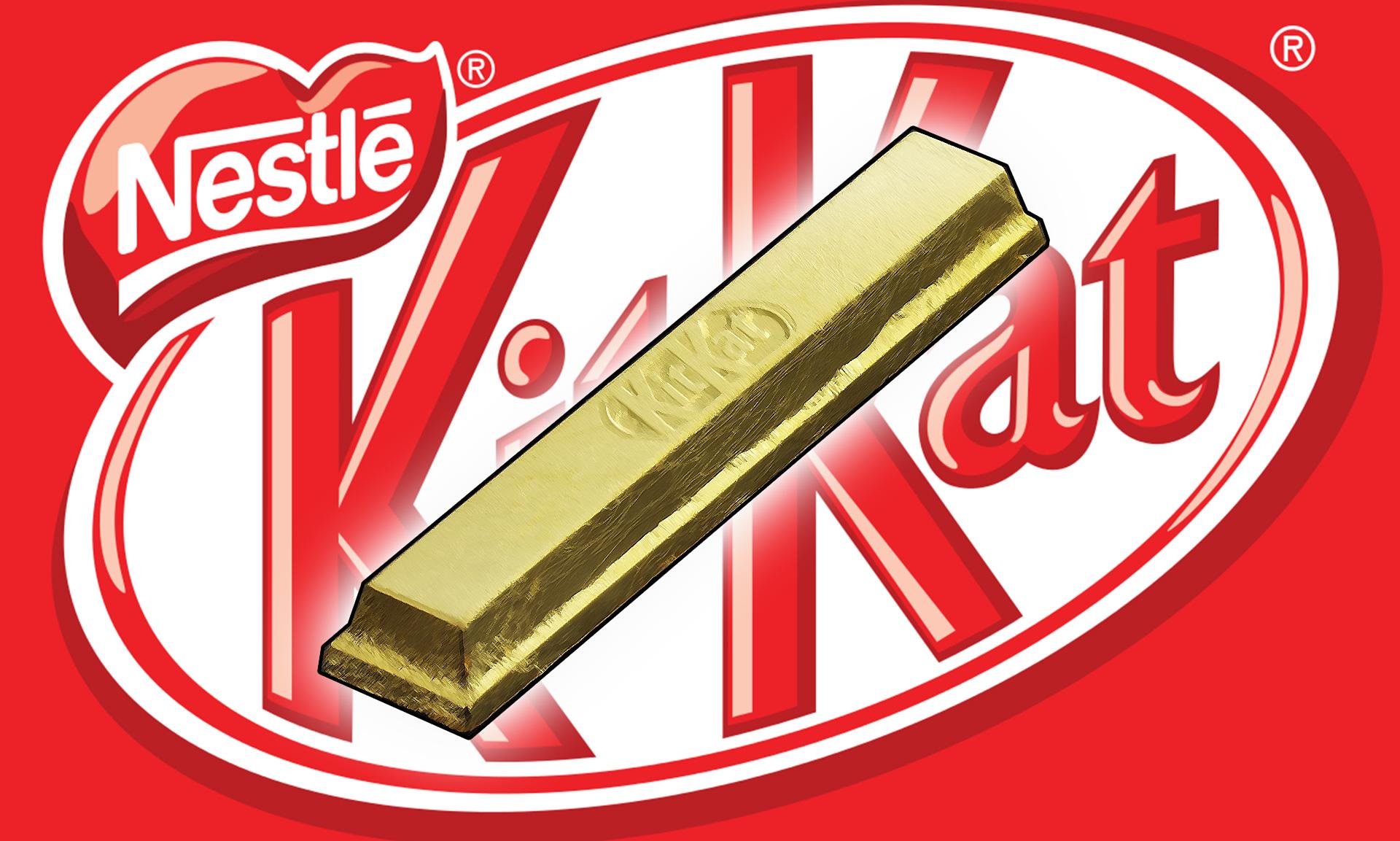 Nestle Japan verkauft essbaren Gold-KitKat Schokoriegel