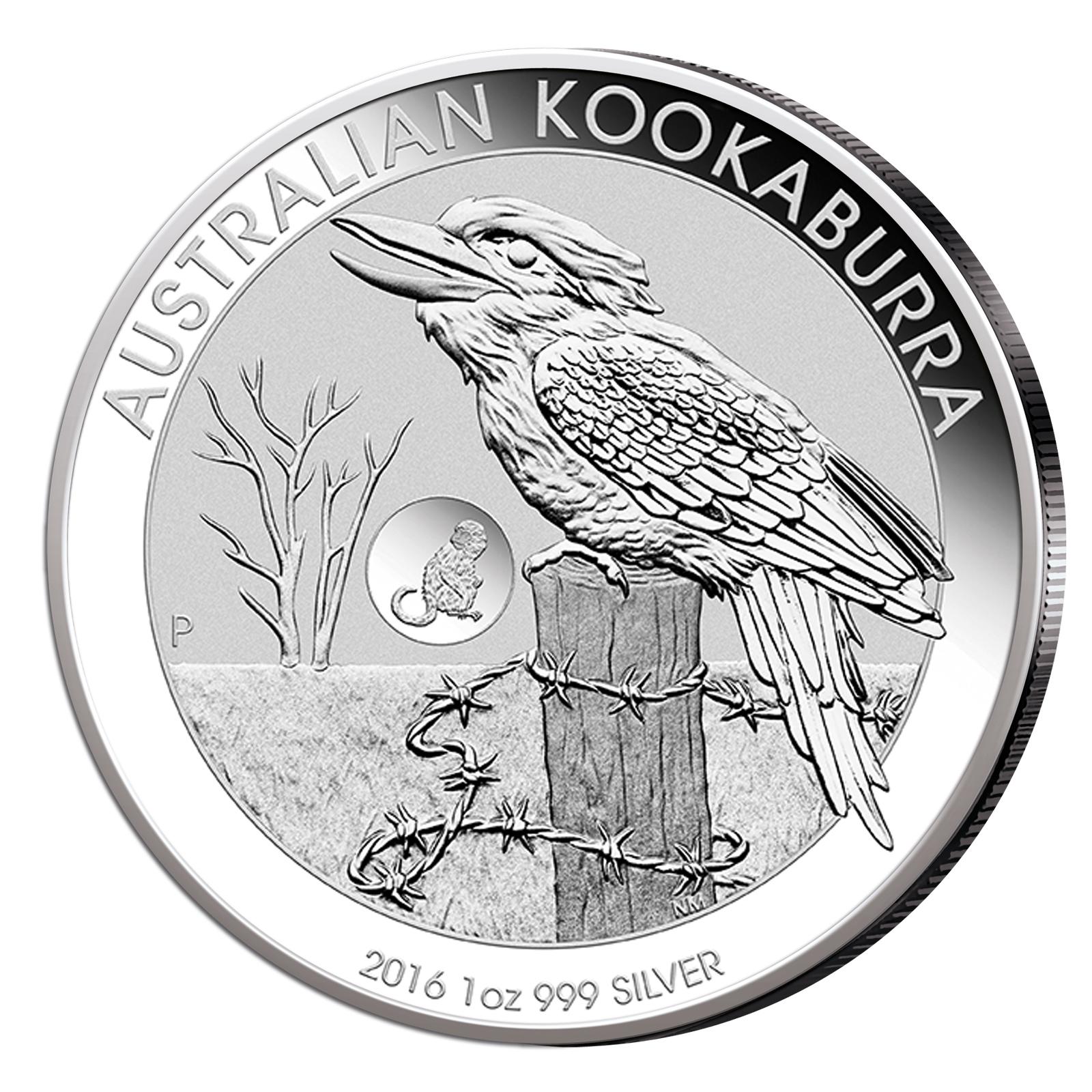 Kookaburra 2016 1oz Silber Sonderausgabe mit Privy Mark Affe