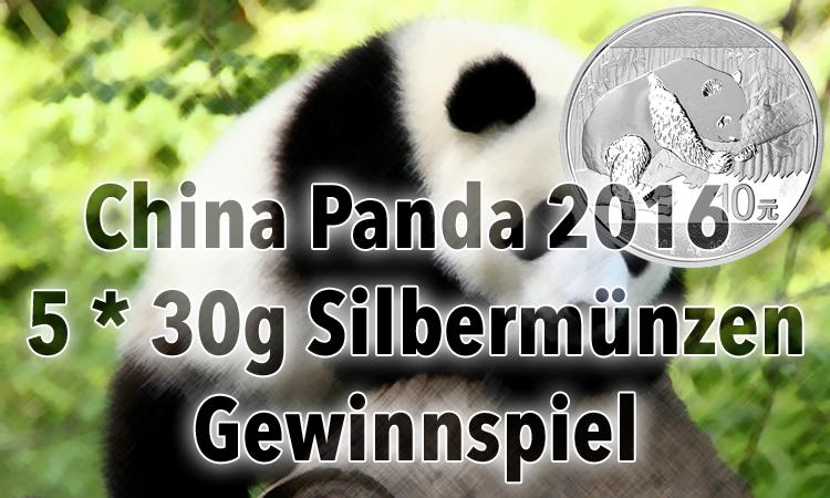 Aufgepasst — 5 x China Panda 2016 Silbermünzen Verlosung
