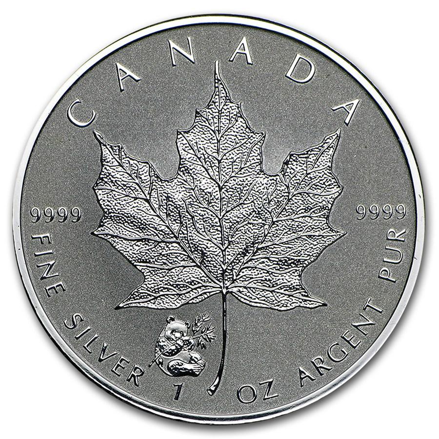 "Maple Leaf Privy Mark ""Panda"" 1oz Silber 2016 — Sonderausgabe Royal Canadian Mint"