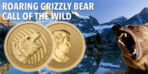 Call Of The Wild — Roaring Grizzly 1oz Gold 2016 Goldmünze