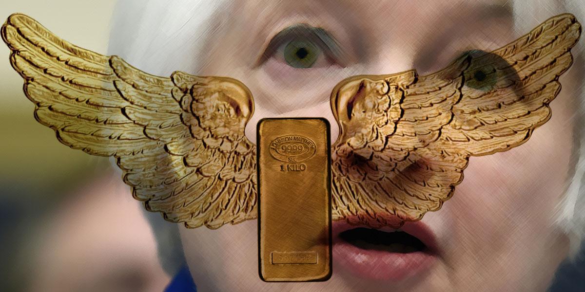 Janet Yellen — Nach Rede Flügel für Gold und Dämpfer für Zinsen