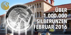 Perth Mint setzt über 1 Million Unzen Silber im Februar ab