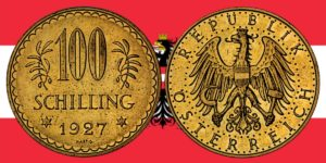 100 Schilling Goldmünze 1926 — 1934