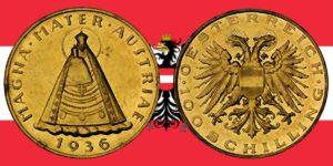 100 Schilling Goldmünze 1935 — 1938