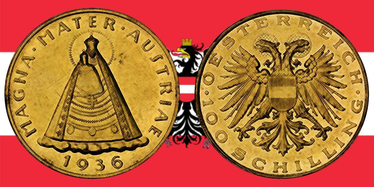 Die 100 Schilling Goldmünze 1935 — 1938