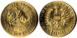 1000 Schilling Gold Babenberger