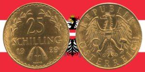 25 Schilling Goldmünze 1926 — 1934