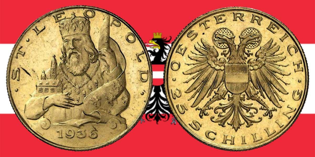 Die 25 Schilling Goldmünze 1935 — 1938
