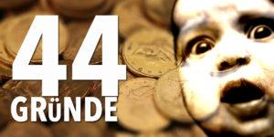 44 Gründe für Gold — Warum das Edelmetall bei den Geldanlagen die Nase vorne hat