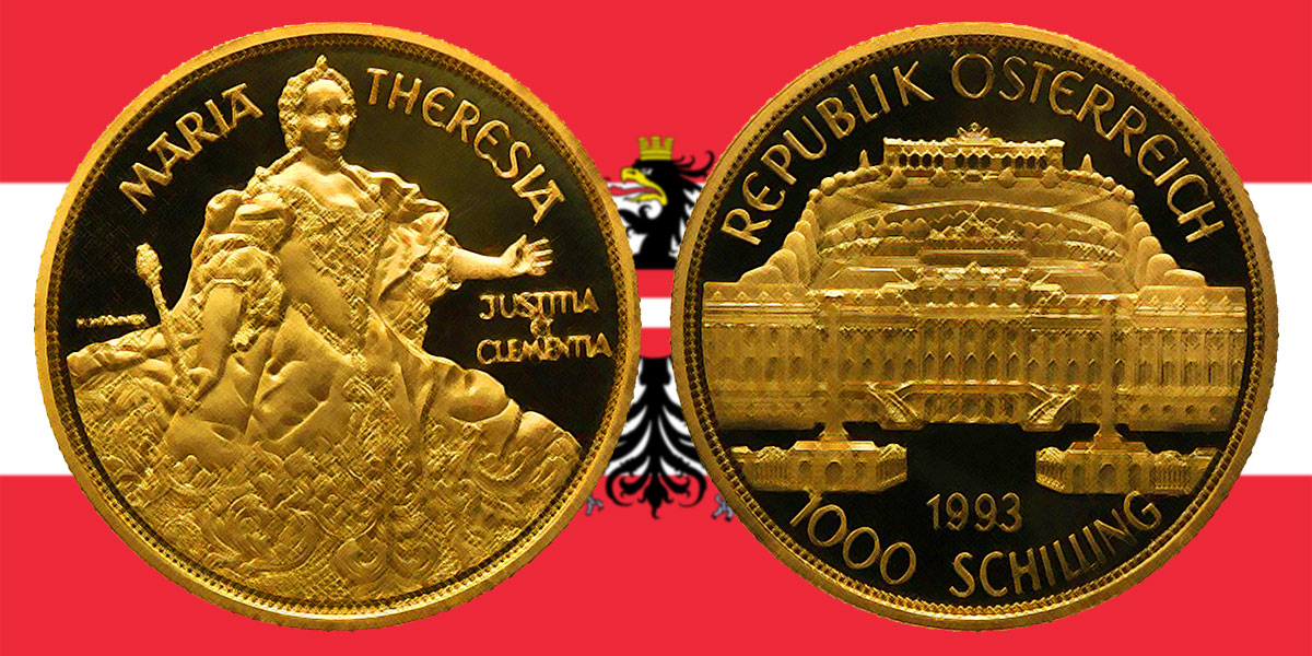 1000 Schilling In Gold Maria Theresia In Der Serie 1000 Jahre