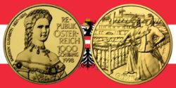 """1000 Schilling in Gold """"Kaiserin Elisabeth"""" in der Serie """"Schicksale im Hause Habsburg"""""""