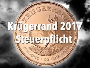 Krügerrand Goldmünze 2017 — Steuerpflicht der 1/50 oz Krugerrand