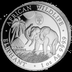 """Somalia Elefant 2017 Sonderausgabe 1oz Silbermünze """"Urania - WMF"""""""