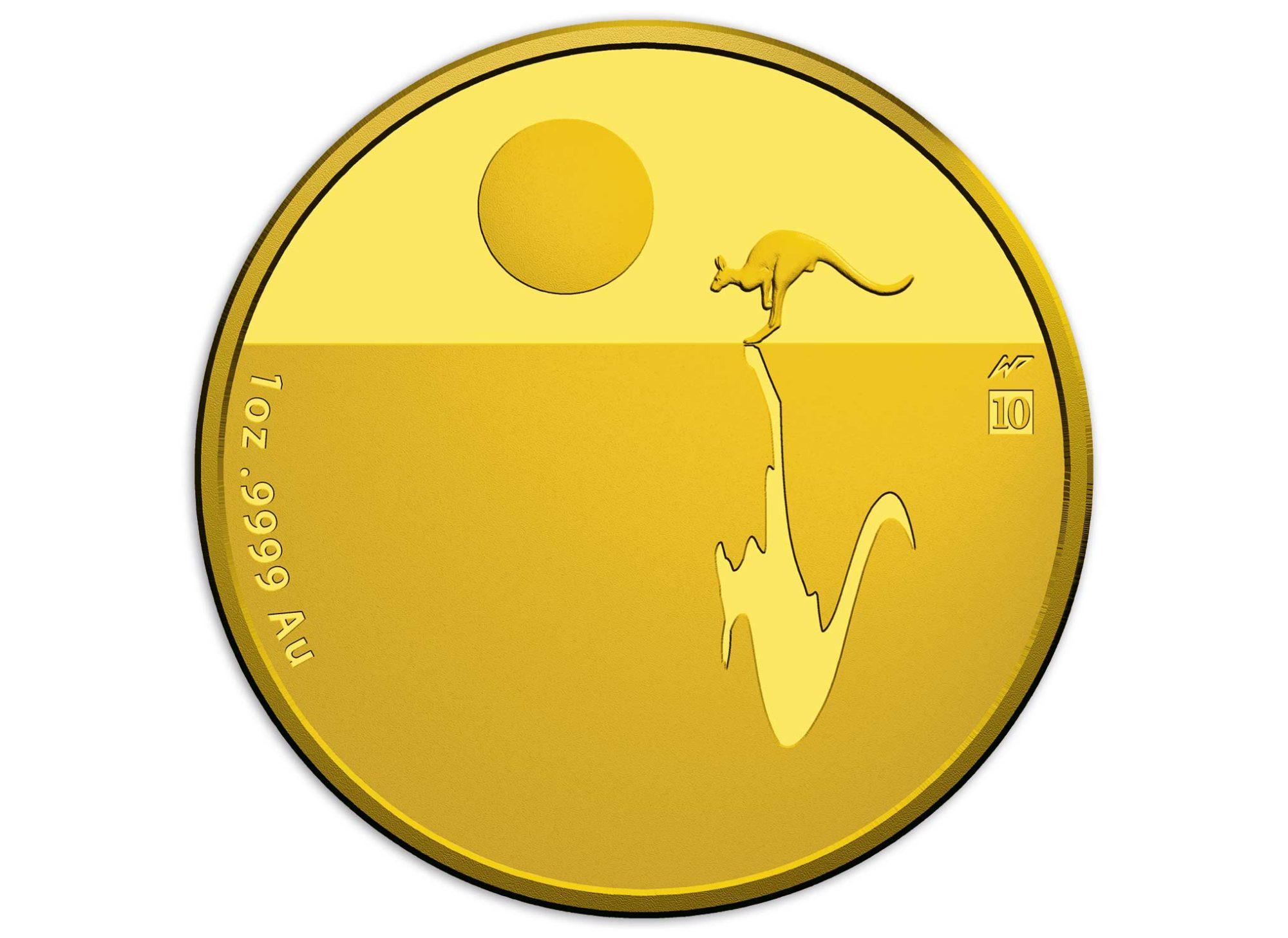 Känguru Goldmünze — Sunset Kangaroo 2017 1oz Gold — Begehrte Goldmünze