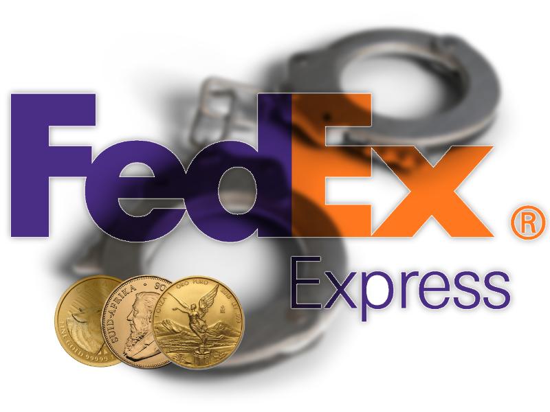FedEx-Mitarbeiter klaut Paket mit 135 Goldmünzen am Flughafen