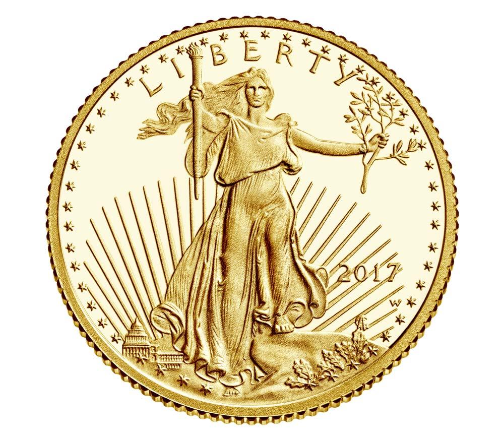 Goldmünze Eagle 2017 in PP durch US-Mint ausgegeben