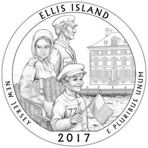 2017 ATB Quarter Silber Ellis Island National Monument 5 oz