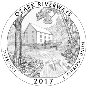 2017 ATB Quarter Silber Ozark National Scenic Riverways 5 oz
