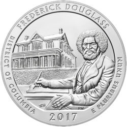 America The Beautiful (ATB) 5 oz Silbermünzen 2017 Ausgabeprogramm — inkl. Frederick Douglass