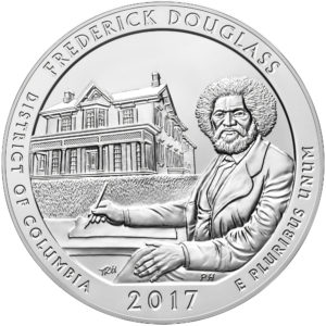 America The Beautiful (ATB) 5 oz Silbermünzen 2017 Ausgabeprogramm — inkl. Frederick Douglass
