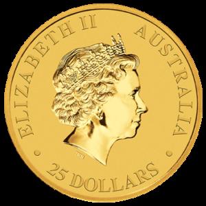 2017 Salzwasserkrokodil Gold 1/4 Unze Wertseite