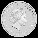 2017 Salzwasserkrokodil Silber 1/2 Unze Wertseite