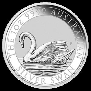 Schwan Silbermünze 1oz Motivseite (Perth Mint) 2017