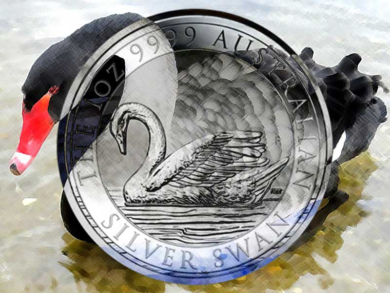 Schwan Silberm 252 Nze Der Perth Mint Trauerschwan Schl 228 Gt