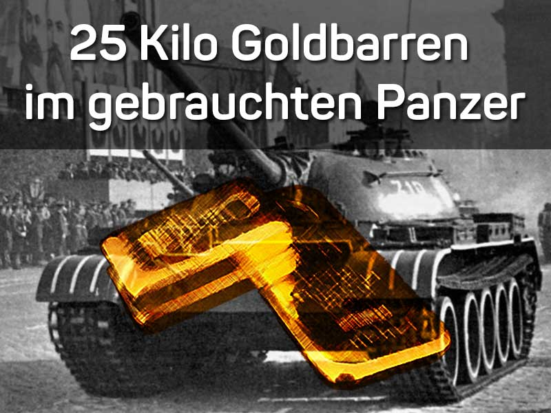 Brite findet 25 Kilo Goldbarren im gebrauchten Panzer