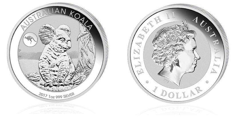 Koala Privymark Känguru 1oz Silber 2017 — limitierte Auflage