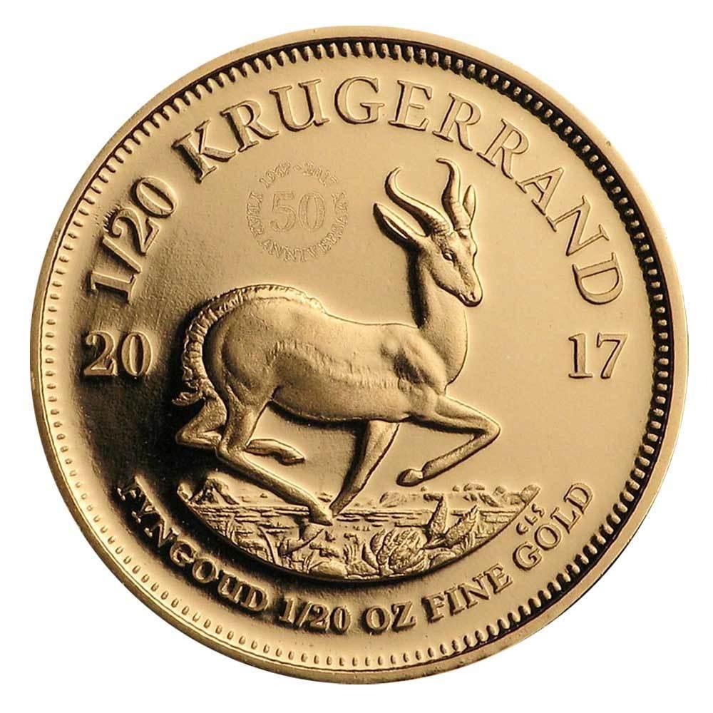 kruegerrand goldmuenze 1/20 unze 2017