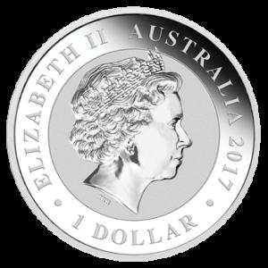 Schwan Silbermünze 1oz Queenseite (Perth Mint) 2017