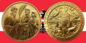 """500 Schilling in Gold """"Die Bibel"""" in der Serie 2000 Jahre Christentum"""