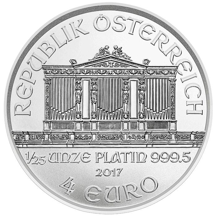 Platin Philharmoniker 2017 jetzt auch als 1/25 Unze — 4 Euro Nennwert Wiener Philharmoniker in Platin