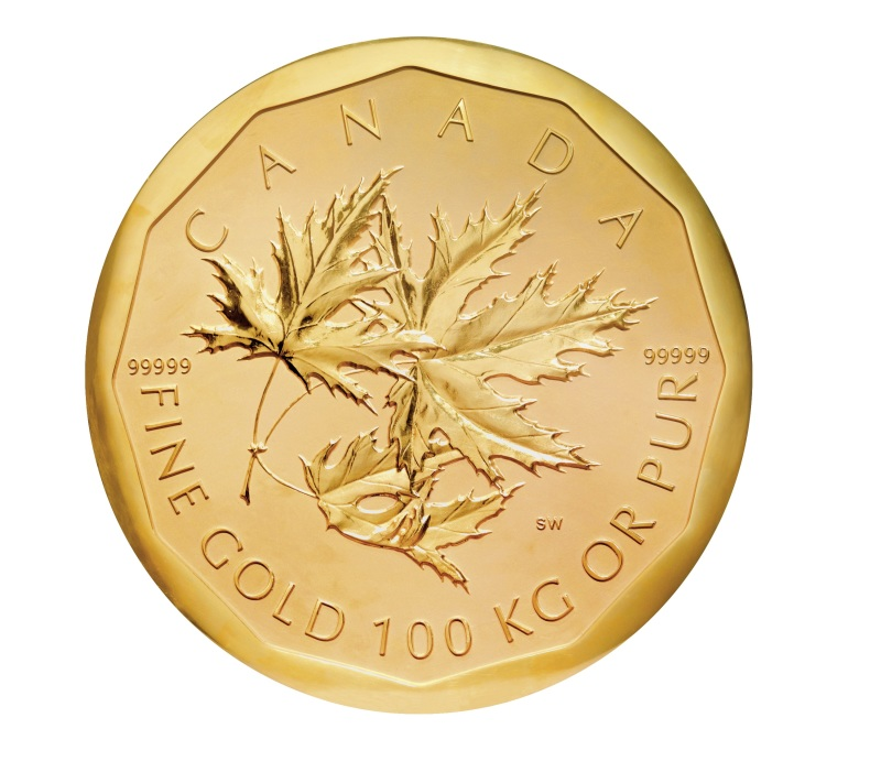 goldmuenze maple leaf 100 kg