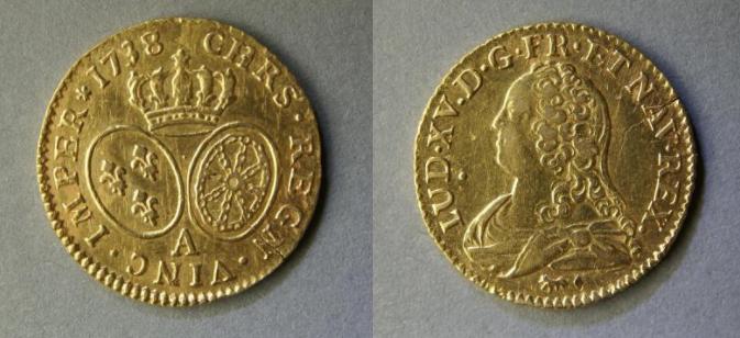 Beschlagnahmung — Goldmünze Louis d'or von 1738 aus Bodenfund — Staat greift zu