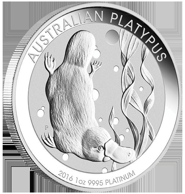 platypus schnabeltier 1oz platin australien perth mint