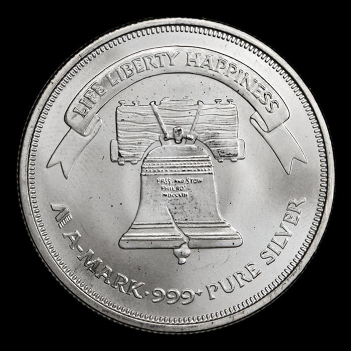 amark silver round silber medaille
