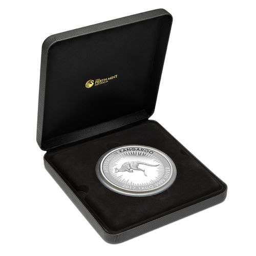 Silber Känguru 1 Kilogramm 2017 Perth Mint Proof Box