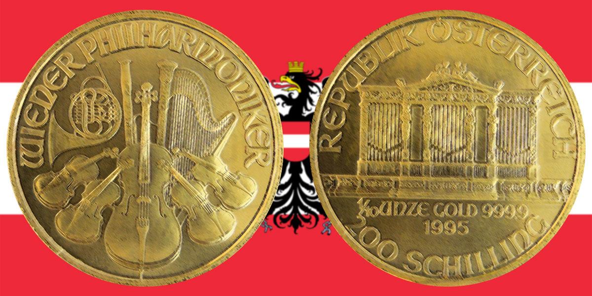 200 Schilling Gold Wiener Philharmoniker Investment News